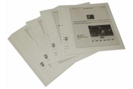Lindner Inhouden / T-Voordruk albumbladen met folie voorbladen met stroken (Inhoud) Plaatfouten en andere bijzonderheden 1987-1989 (25 bladen) (Lindner 120BF)
