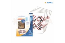 """Herma Gebodstickers """"Handen Schudden"""" (ø 10cm) 20 Stickers (Herma 12926)"""
