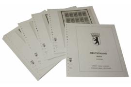 Lindner Inhouden / T-Voordruk albumbladen met folie voorbladen met stroken (Inhoud) Berlijn; Kleine vellen 1989-1990 (24 bladen) (Lindner 120CK-89)