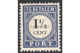 NVPH P15 Postfris (1 1/2 cent) Cijfer en waarde zwart 1894-1910
