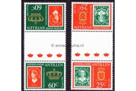 Nederlandse Antillen NVPH 654b-655b Postfris FOTOLEVERING Keerdrukken MET 4 KLEINE KRONEN Troonswisseling 1980