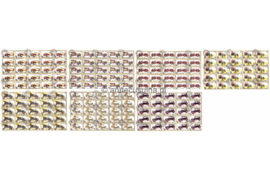 Mongolië Michel 1827-1833 Gestempeld (In hele vellen van 25 stuks) Oldtimers 1986