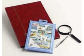 Schilderijen Postzegelpakket incl. insteekboek, pincet en loupe