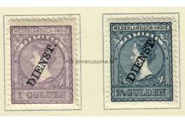NVPH D26-D27 Ongebruikt (bep. serie) Frankeerzegels der uitgiften 1883-1909, overdrukt in zwart 1911