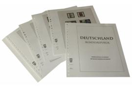 Lindner Inhouden / T-Voordruk albumbladen met folie voorbladen met stroken (Inhoud) Bondsrepubliek Duitsland 2005-2009 in kleur (41 bladen) (Lindner 120B-05)