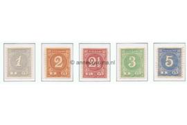 Suriname NVPH 16-20 Ongebruikt Cijfer 1890-1893