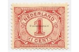 Nederland NVPH 51 Gestempeld (1 cent) Cijfer Vürtheim 1899-1913