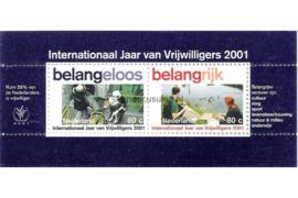 Nederland NVPH 1968 Postfris Blok Internationaal Jaar Vrijwilligers 2001