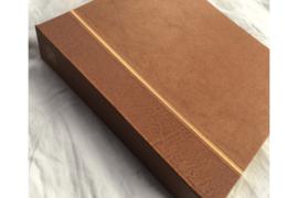 ZGAN! Schitterend Gebruikt Kabe Klassiek (met linnen ingelegd/hand ingetekend!) album Nederland 1852-1969