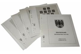 Lindner Inhouden / T-Voordruk albumbladen met folie voorbladen met stroken (Inhoud) Duitse Rijk 1923-1933 (12 bladen) (Lindner 115)