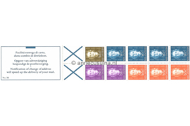Nederlandse Antillen NVPH PB 3B (rechts) Postfris Postzegel-/Automatenboekje Type Hartz, 4 x no. 606 + 3 x no. 607 + 2 x no. 608 + 1 x no. 609 (blauw kruis) 1980