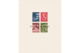 Koopjeshoek! Suriname NVPH 308 Postfris FOTOLEVERING met vouwtje rechtsonder in hoek, Blokuitgave Inheemse voorstellingen 1955