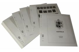 Lindner Inhouden / T-Voordruk albumbladen met folie voorbladen met stroken (Inhoud) Australië 1966-1982 (38 bladen) (Lindner 470-66)
