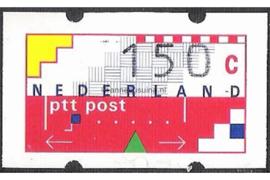 SPECIALITEIT! Nederland NVPH AU16 Postfris MET RUGNUMMER 225 (Verschoven opdruk!) (150 cent) Automaatstroken, Voordrukzegel voor Klüssendorf-automaat 1996