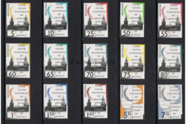 Nederland NVPH D44-D58 Postfris COUR INTERNATIONALE DE JUSTICE Foto Vredespaleis 1989-1994