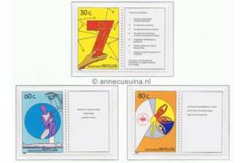 Nederlandse Antillen NVPH 926-928 (Met informatie-tabs) Postfris Kankerbestrijding 1989
