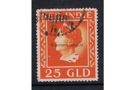 Nederlands Indië NVPH 289 Gestempeld FOTOLEVERING (25 gulden) Koningin Wilhelmina (Konijnenburg), groter formaat 1941