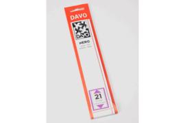DAVO Nero stroken N21 (215 x 25) 25 stuks