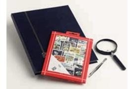 Schepen Postzegelpakket incl. insteekboek, pincet en loupe