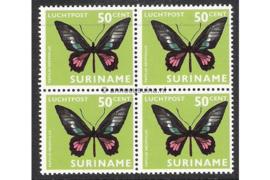 NVPH LP54 Postfris (50 ct) (Blokje van vier) Vlinders 1972