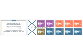 Nederlandse Antillen NVPH PB 3B (links) Postfris Postzegel-/Automatenboekje Type Hartz, 4 x no. 606 + 3 x no. 607 + 2 x no. 608 + 1 x no. 609 (blauw kruis) 1980