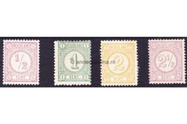 Nederland NVPH 30-33 Ongebruikt Drukwerkzegels 1876-1894