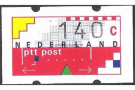 SPECIALITEIT! Nederland NVPH AU14 Postfris MET RUGNUMMER 0975 (140 cent) Automaatstroken, Voordrukzegel voor Klüssendorf-automaat 1996