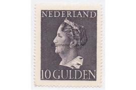 Nederland NVPH 349 Ongebruikt (10 Gulden) Koningin Wilhelmina (Konijnenburg) 1940-1947