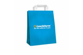 Leuchtturm (Lighthouse) Papieren tas met vlak papieren handvat, Blauw met logo (Leuchtturm/Lighthouse 364797)
