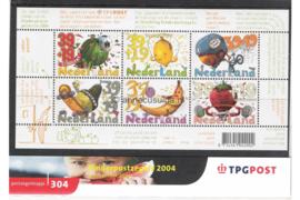 Nederland NVPH M304 (PZM304) Postfris Postzegelmapje Blok Kinderzegels 2004