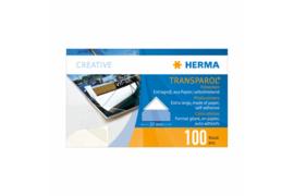 Herma Transparol Fotohoekjes EXTRA GROOT dispenser 100 Stuks (Herma 1302)
