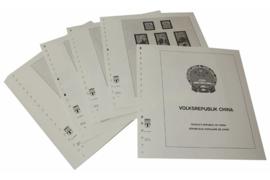 Lindner Inhouden / T-Voordruk albumbladen met folie voorbladen met stroken (Inhoud) China Volksrepubliek 1987-1991 (45 bladen) (Lindner 159-87)