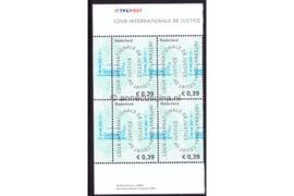Nederland NVPH D59 Postfris MET VELRAND BOVEN EN ONDER (39 eurocent) (Blokje van vier) COUR INTERNATIONALE DE JUSTICE 2004