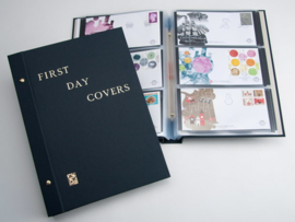 "DAVO Standaard album FDC opdruk ""First Day Covers"" (Neutraal)"