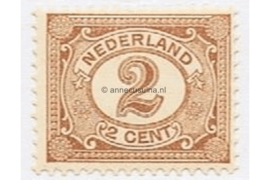Nederland NVPH 54 Gestempeld (2 cent) Cijfer Vürtheim 1899-1913