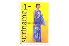Zonnebloem 59 Postfris (1 gulden) Surinaamse klederdrachten zoals deze bij bepaalde feestelijkheden worden gebruikt 1977