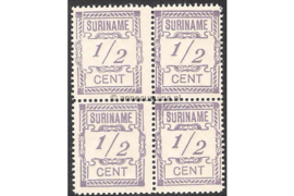 NVPH 65 Postfris (1/2 cent) (Blokje van vier) Hulpuitgifte 1912