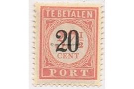 NVPH P40 Postfris Opdruk in zwart op portzegel P34 van de uitgifte 1913-1940