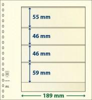 Lindner T-Blanco blad met 4 stroken (Lindner 802404) (per stuk)