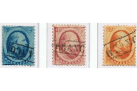 NVPH 4-6 Gestempeld FOTOLEVERING 2e emissie Koning Willem III 1864
