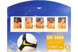 Nederland NVPH 2562-E-3 Postfris (in mapje (3)) Velletjes met vijf zegels (Persoonlijke Postzegels) Velletje EK Voetbal 2008; Urby Emanuelson, Wilfred Bouma, Ruud van Nistelrooij, Clarence Seedorf, Rafael van der Vaart 2008