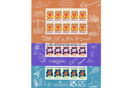 Zonnebloem 4-6 Postfris Siervellen Onafhankelijkheid Suriname 1975