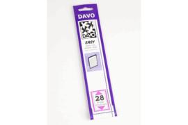 DAVO Easy stroken zwart Z28 (215 x 32) 25 stuks