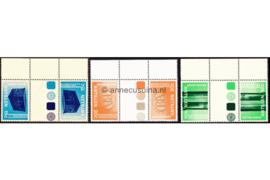 Nederlandse Antillen NVPH 573a-575a Postfris FOTOLEVERING Keerdrukken MET KLEURSYMBOLEN MET VELRAND 150 jaar Bank van de Nederlandse Antillen 1978