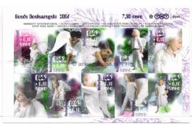 Nederland NVPH V2456-2465 Postfris (Half velletje!) Goede doelen Decemberzegels zelfklevend 2006