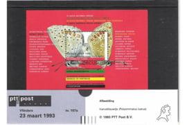 Nederland NVPH M107a (PZM107a) Postfris Postzegelmapje Blok Natuur en Milieu, vlinders 1993