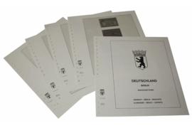 Lindner Inhouden / T-Voordruk albumbladen met folie voorbladen met stroken (Inhoud) Berlijn; Postzegelboekjes 1949-1989 (5 bladen) (Lindner 120C-H)