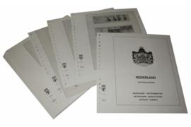 Lindner Inhouden / T-Voordruk albumbladen met folie voorbladen met stroken (Inhoud) Nederland Postzegel- en Prestigeboekjes 1985-2013 (50 bladen) (Lindner 191H)
