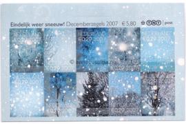 Nederland NVPH V2530-2539 Postfris (Half velletje!) Decemberzegels vel met 2x10 zegels met logo TNT post rechtsboven 2007