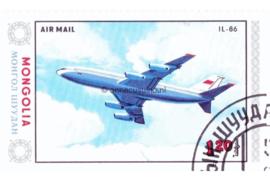 Mongolië Michel 1632 Gestempeld Vliegtuigen 1984